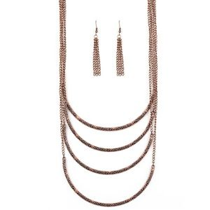 It Will Be Over MOON Copper Necklace Earring Set